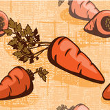 Carrots on a braided background Stock Photography