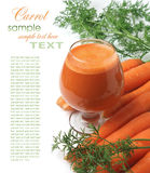 Carrots and carrot juice Royalty Free Stock Photography