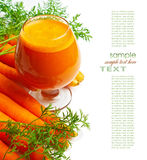 Carrots and carrot juice Stock Photo