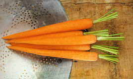 Carrots in Colander Stock Image