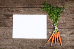 Carrots with copy space - Series 2 Stock Image