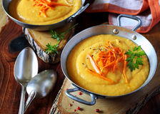 Carrots cream soup Royalty Free Stock Photography