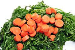 Carrots cut Stock Photo