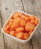 Carrots cut in bowl close up Stock Photos