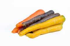 Carrots of different colors Royalty Free Stock Photography