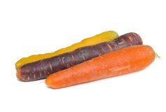 Carrots of different colors Stock Photography