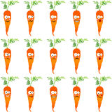 Carrots with different expressions Royalty Free Stock Photography