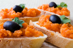 Carrots Dip Royalty Free Stock Images