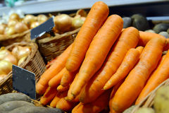 Carrots on display Royalty Free Stock Images