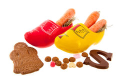 Carrots in Dutch clogs for Sinterklaas Royalty Free Stock Image