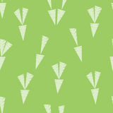 Carrots flat pattern. Used pistachio, white color Stock Images