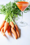 Carrots freshly juiced Royalty Free Stock Images