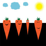 Carrots-friends Royalty Free Stock Photos