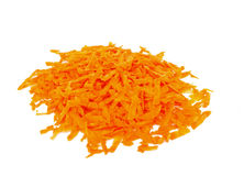 Carrots grated on grater Royalty Free Stock Images