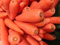 Carrots head in the vegetable market Stock Photos