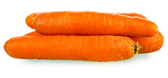 Carrots isolated over white background Stock Image