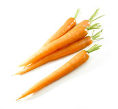 Carrots isolated on white Royalty Free Stock Images