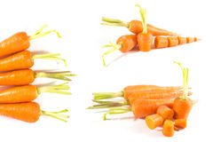 Carrots. Isolated on white background Royalty Free Stock Photography
