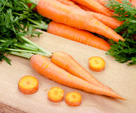 Carrots isolated on white background Royalty Free Stock Photos