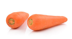 Carrots isolated on a  white background Stock Images