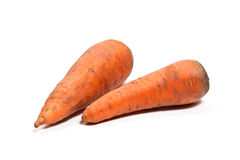 Carrots isolated on white. Royalty Free Stock Images