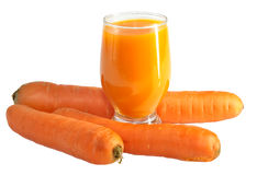 Carrots and juice Royalty Free Stock Image