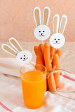 Carrots and juice Stock Image