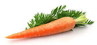 Carrots with leaf Stock Photography