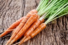 Carrots with leaves Stock Photo