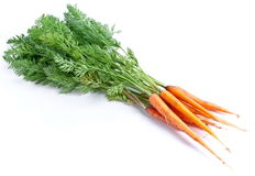 Carrots with leaves Royalty Free Stock Photography