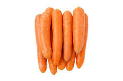 Carrots. Lots of fresh and clean carrots closeup isolated on white background Stock Photo
