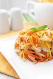 Carrots and mango salad with chicken Royalty Free Stock Photography