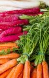 Carrots on market Stock Photo