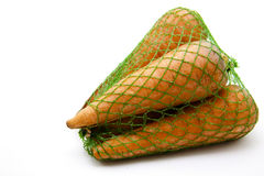 Carrots in the net Stock Image