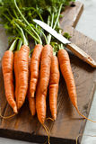 Carrots On A Chopping Board Royalty Free Stock Photography