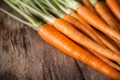Carrots On A Wooden Background Stock Photo