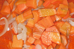 Carrots and Onions Royalty Free Stock Images
