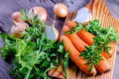 Carrots and onions Stock Photo