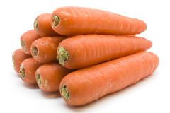 Carrots Organic. Carrots are an excellent source of beta carotene which is converted to vitamin A Stock Photo