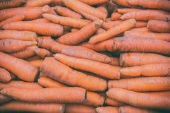 Carrots at outdoor market. Close up carrots at outdoor market in Ljubljana, Slovenia Stock Images