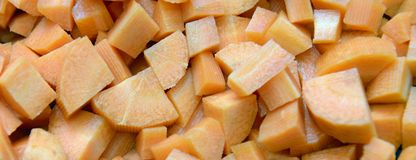 Carrots panorama. Healthy natural food, background. Carrots slices. More stock images