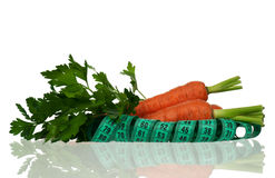 Carrots with parsley Stock Photography