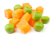 Carrots and peas Royalty Free Stock Photo