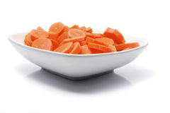 Carrots on Plate Royalty Free Stock Photos