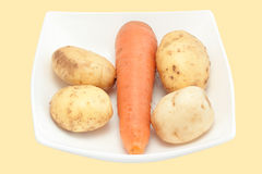 Carrots and potato Royalty Free Stock Images