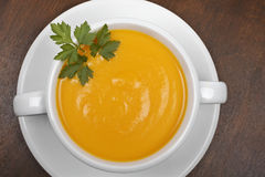 Carrots puree with parsley Stock Photography