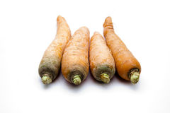 Carrots raw. And on white background Stock Photos