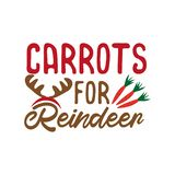 Carrots for reindeer - Happy Christmas text, with carrots.