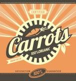 Carrots retro ad concept layout Stock Photos