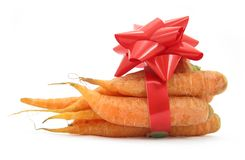 Carrots with ribbon Royalty Free Stock Image
